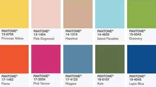 popular 10 colors of year 2017