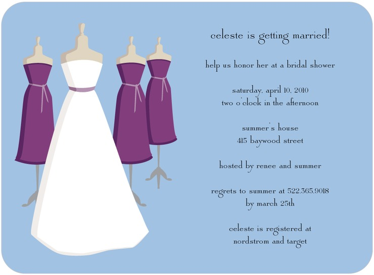 DRESSES BRIDAL SHOWER INVITATION