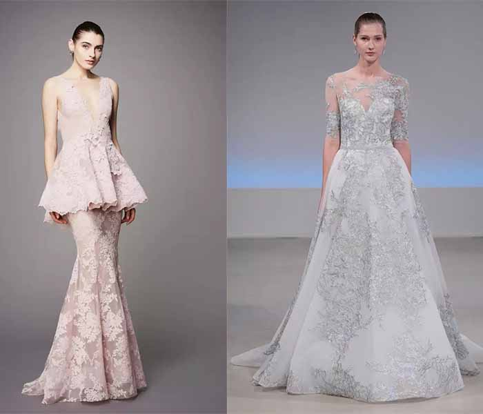 2017 soft color wedding dresses