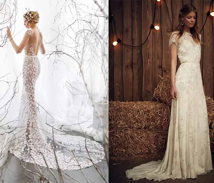 2017 wedding dresses with long train