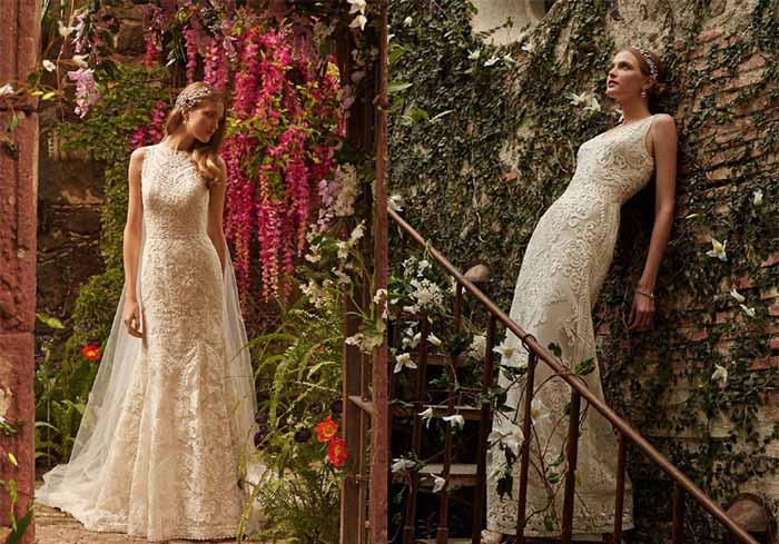 BHLDN's spring meet me in the garden wedding dress