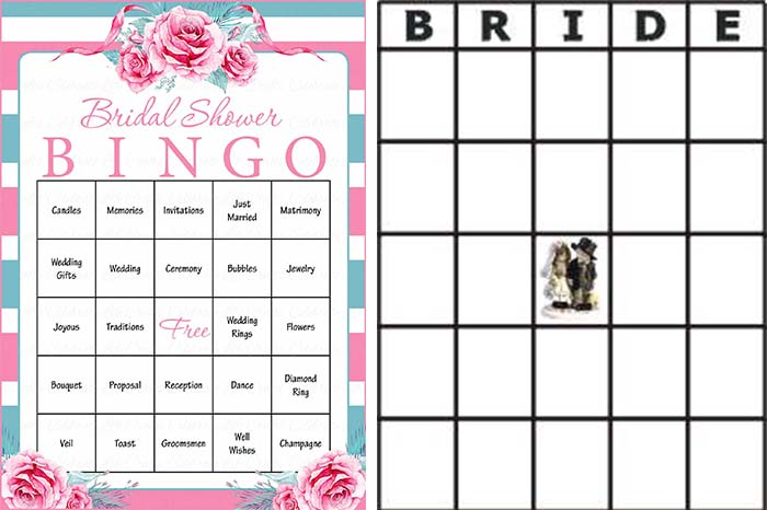 Bridal Bingo Game