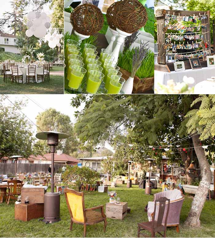 2015 wedding ideas for backyard wedding party for Backyard wedding decoration ideas