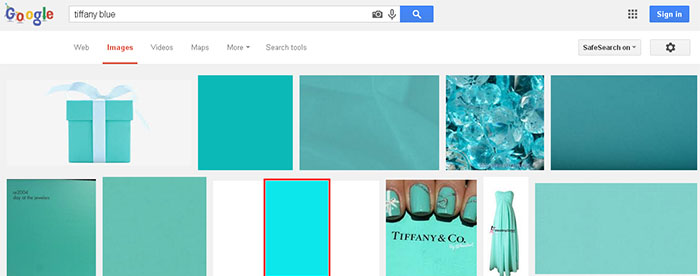 Google Tiffany Blue color
