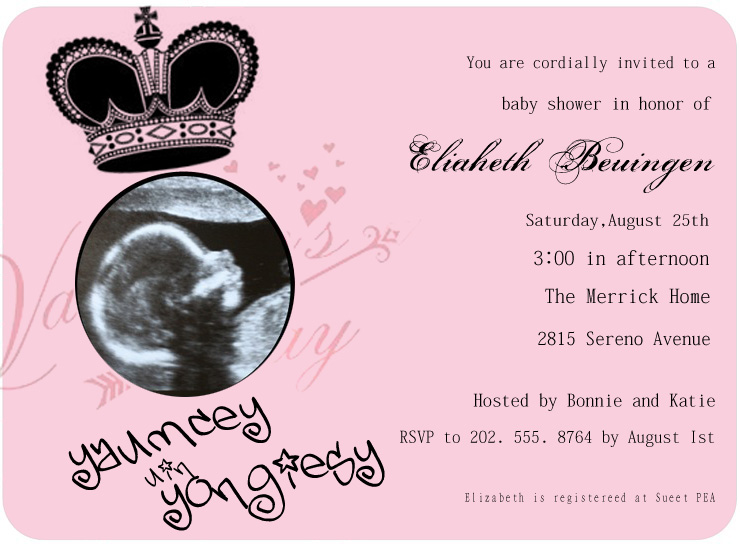 ULTRASONIC BABY SHOWER INVITATION CARDS