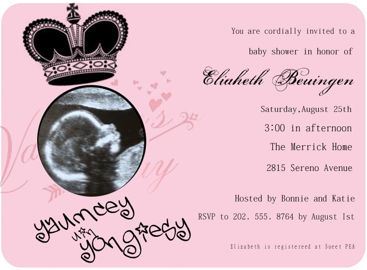ULTRASONIC BABY SHOWER INVITATION CARDS