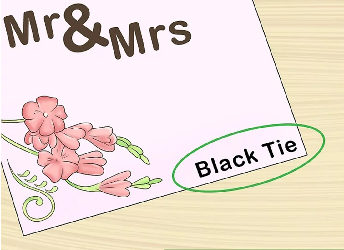 wedding invitation with dress code