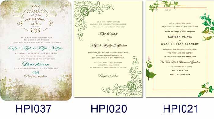 LAWN WEDDING INVITATIONS