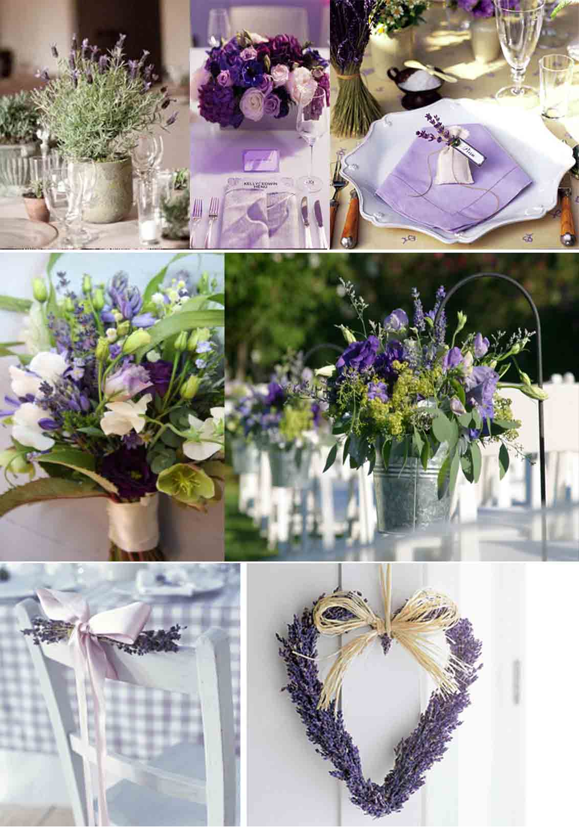 Lavender wedding decorations the image for Decoracion bodas