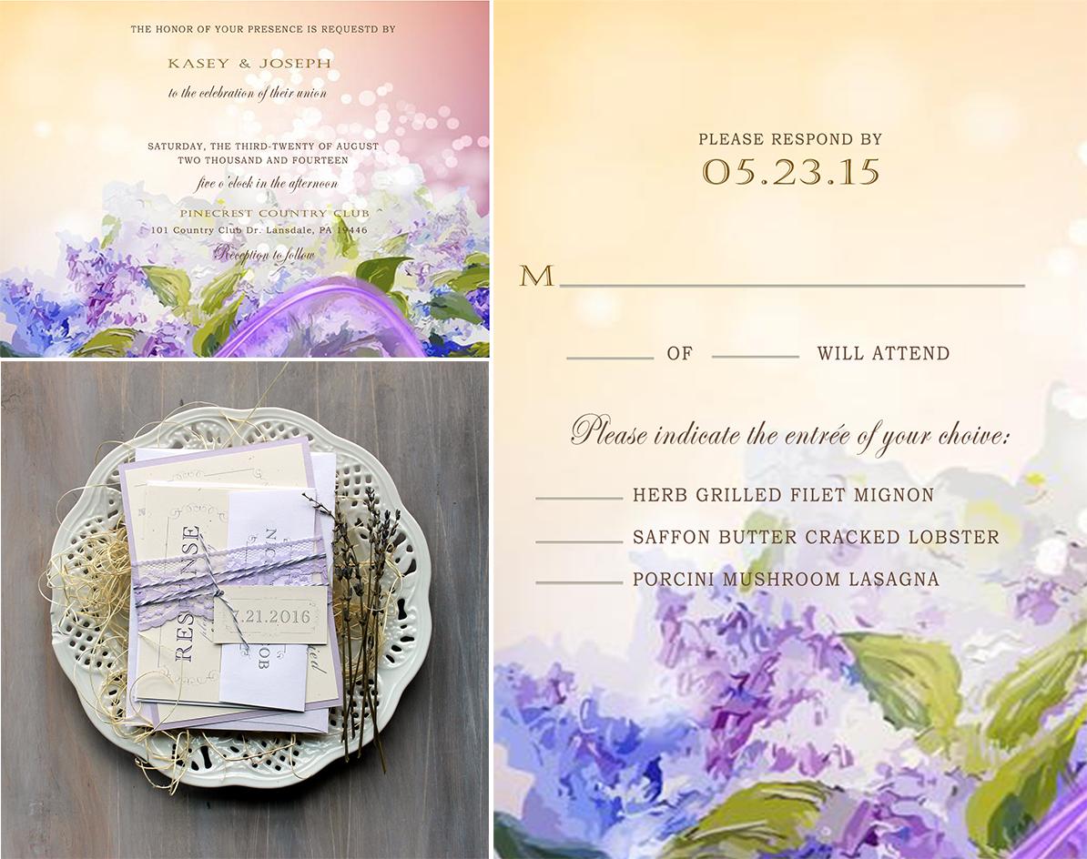 lavender theme wedding invitation cardsuk