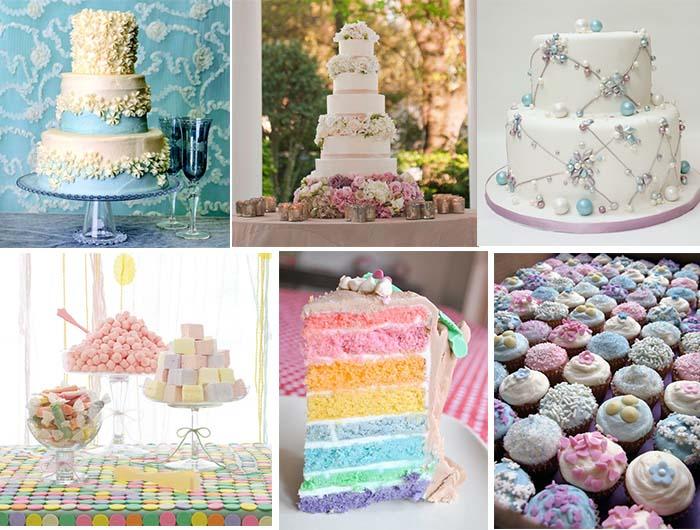 Pastel Wedding Cakes And Deserts