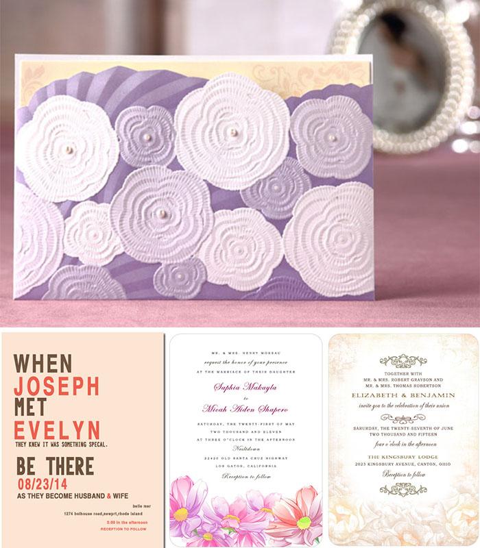 pastel wedding invitations Archives - Happyinvitation.com Invitation ...