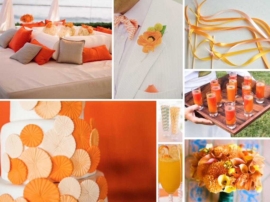 Orange color wedding ideas for 2014 fall wedding party orange color themed outdoor wedding junglespirit Gallery