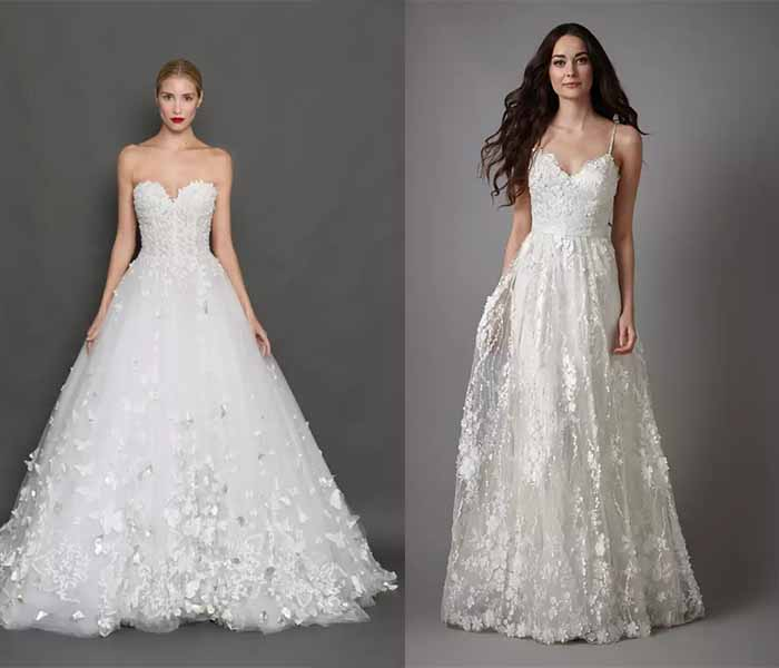 Stereo Flower Appliqué wedding dresses