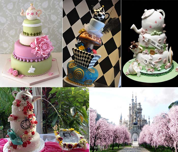Alice In Wonderland Themed Wedding Party Inspirations