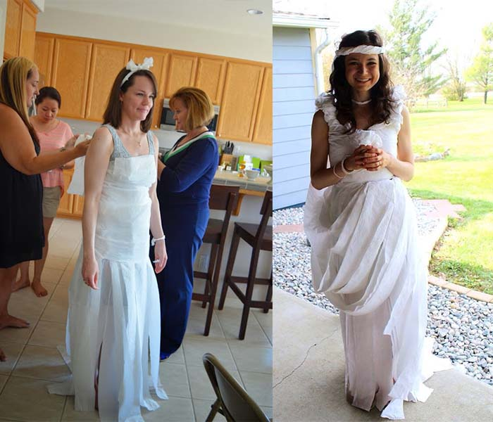 Toilet Paper Wedding Dresses Game