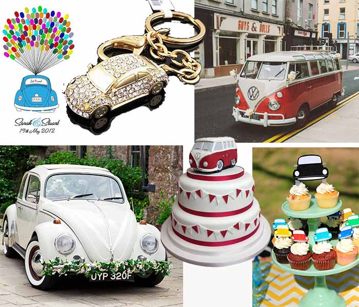 VW bugs themed vintage wedding