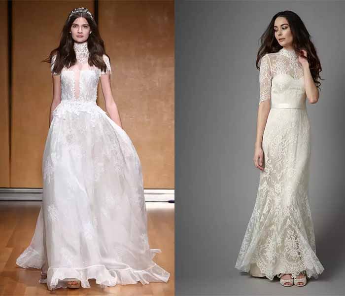 Victoria High Neck wedding dresses 2017