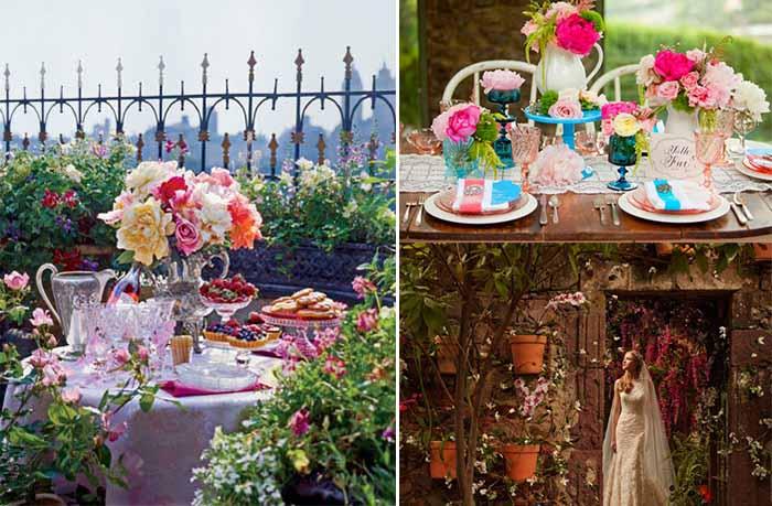 amazing garden wedding centerpieces