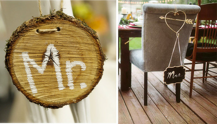 antique rustic table sign