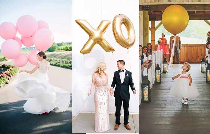 balloons instead of wedding bouquets