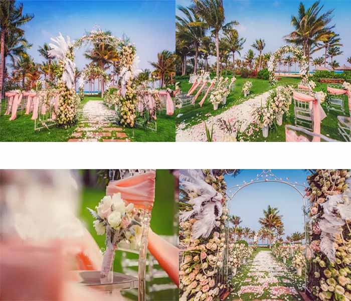 beach lawn wedding inspirations