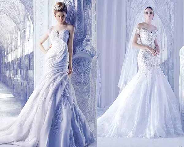 beautiful gauze wedding dresses