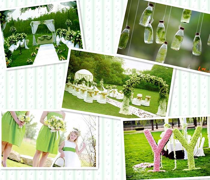 beautiful green spring wedding