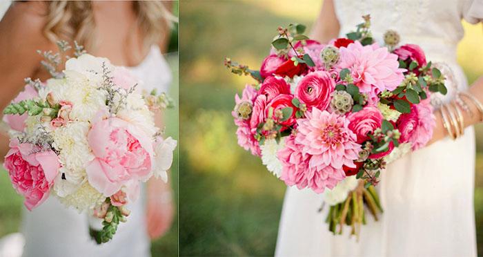 beautiful pink wedding bouquets