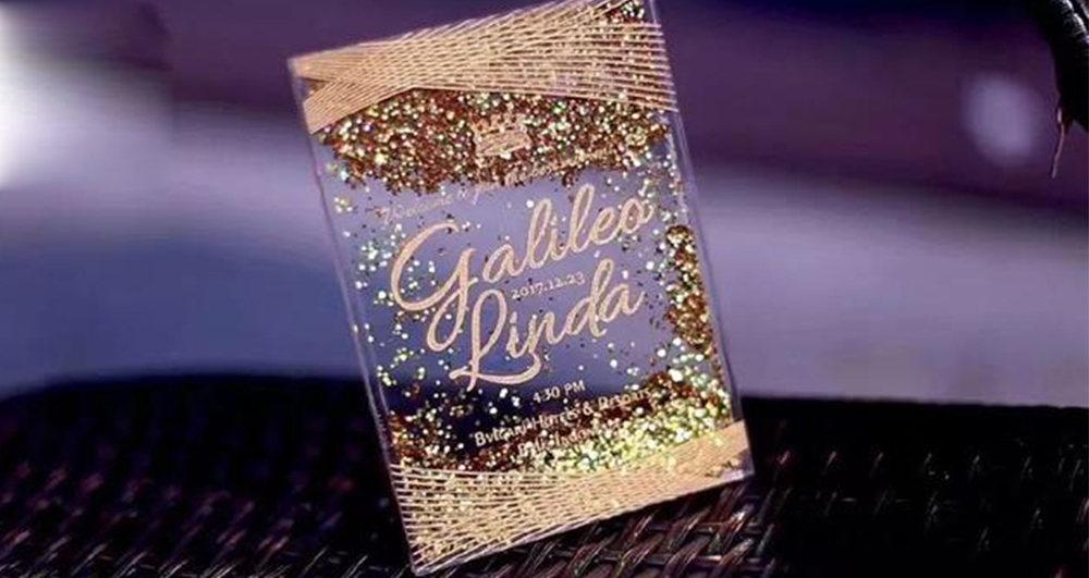 Blingbling acrylic wedding invitations