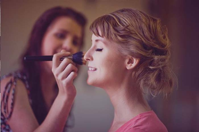 bridal makeup with service concept