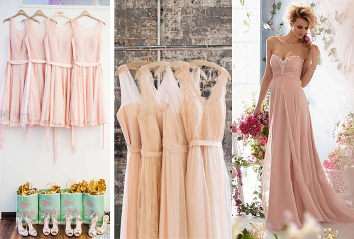 bridesmaid dresses for cherry blossom wedding