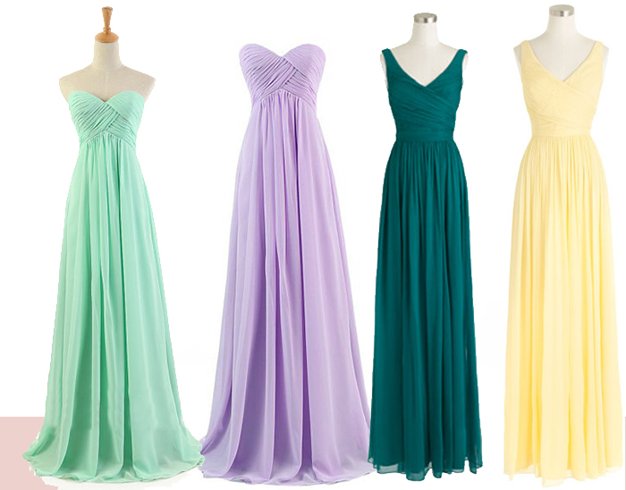 bridesmaid dresses for lawn wedding