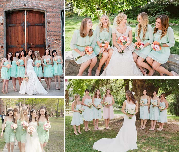 Bridesmaid Dresses For Mint Green Wedding