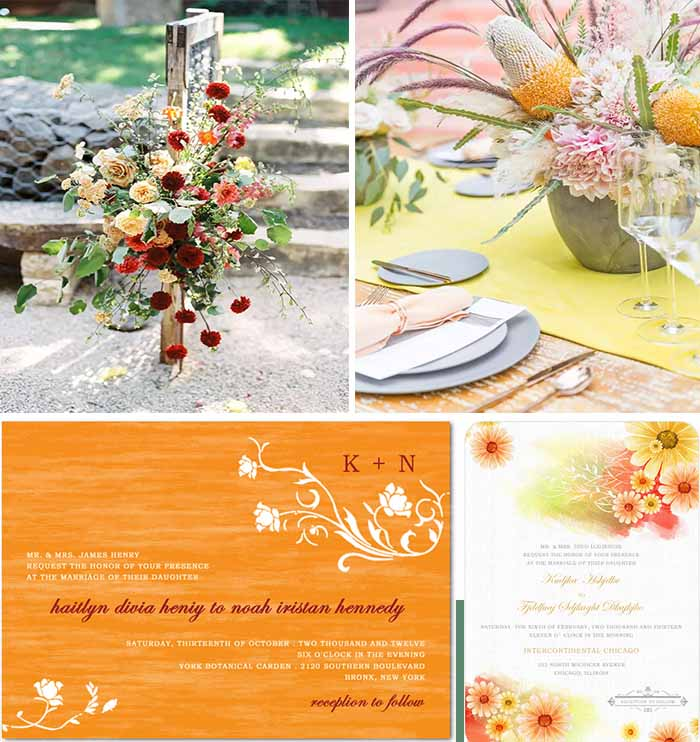 bright yellow wedding color for fall