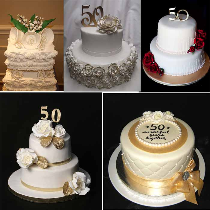 cakes for 50th wedding anniversary