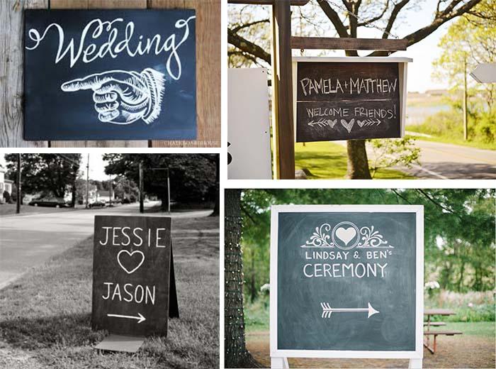 chalkboard wedding indicate