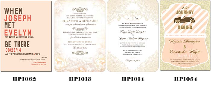 cheap nude color wedding invitations
