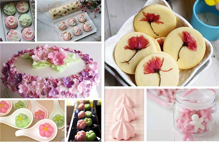 cherry blossom wedding dessert