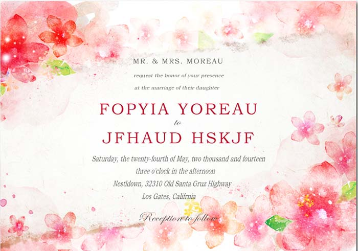 ... Cherry Blossom Wedding Invitations