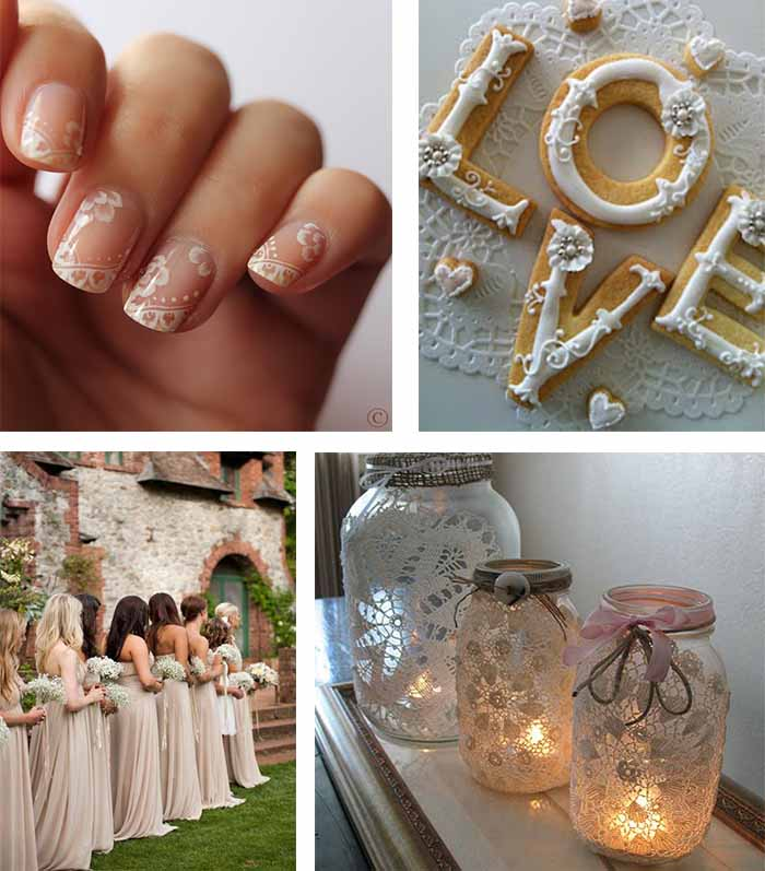 chic wedding party details