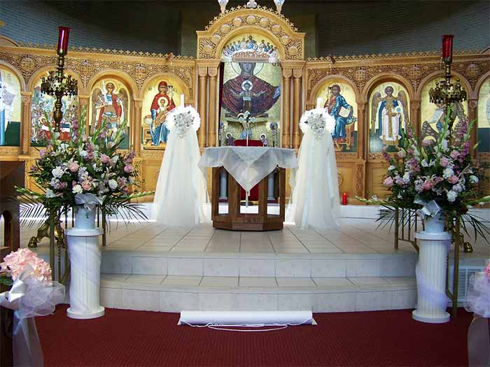 church wedding altar decoration