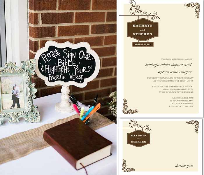 church wedding invitations HPI086