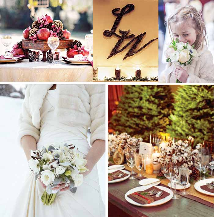 countryside winter wedding theme