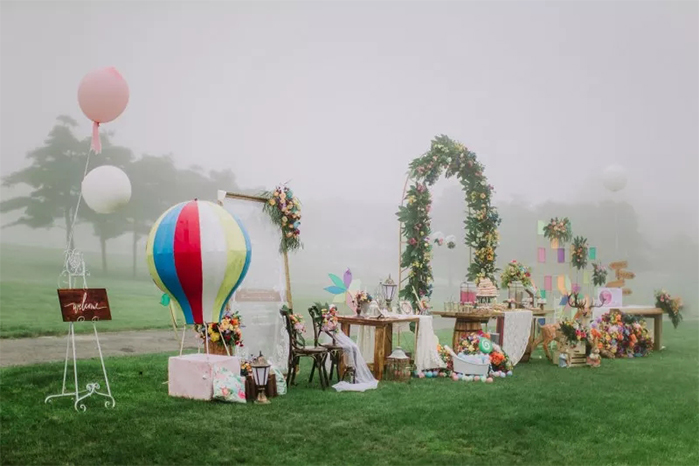 creative colorful wedding party decoration