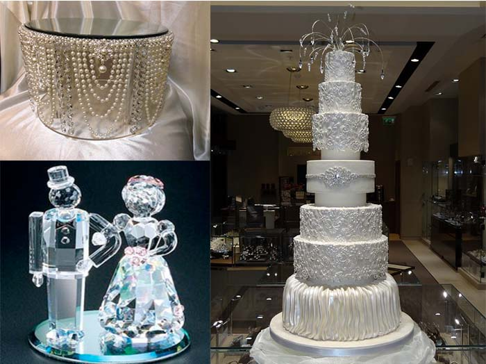 crystal wedding cakes