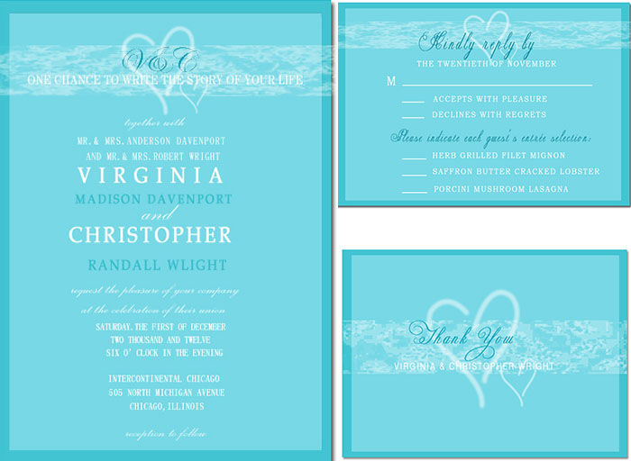 crystal wedding invitations