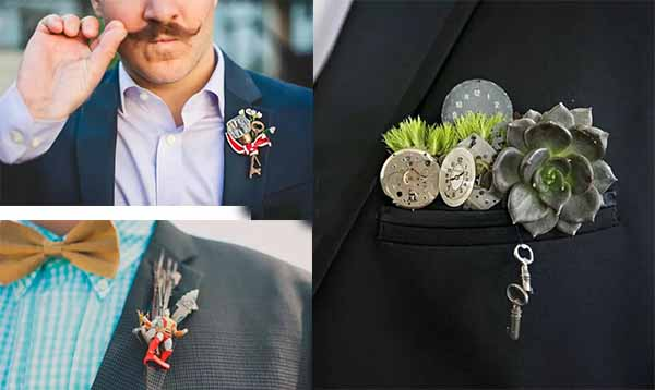 cute creative bridegroom corsage