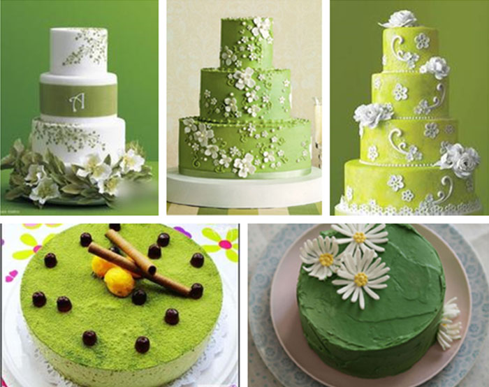 cute green wedding cakes