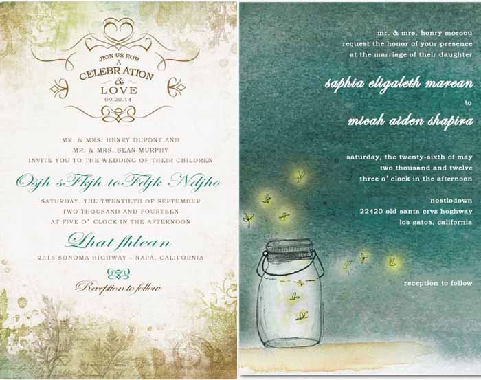 cutsom unique wedding invitations